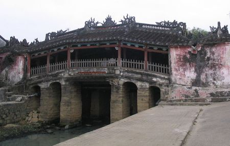 An ancient bridge in Hoi An.