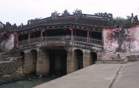 An ancient bridge in Hoi An.
