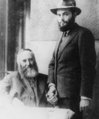 The Rebbe and his future father-in-law after his engagement
