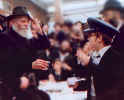 "The Rebbe salutes a child in Tzivos Hashem - ""The Army of G-d"""