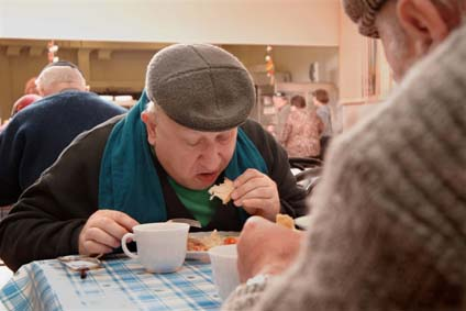 Feeding the hungry in Moscow, Russia
