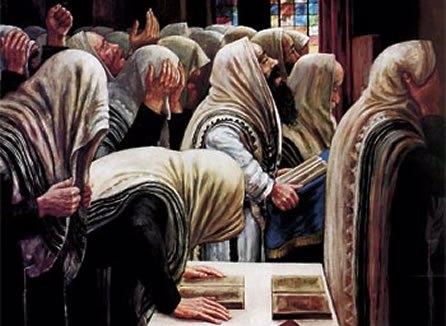 """""""Prière"""" par le peintre 'hassidique Zalman Kleinman"""