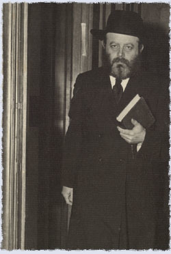 The Rebbe exits his office.