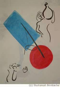 """""""Rébecca et Eliezer près du puits"""" par Shoshannah Brombacher"""