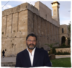 Dr. Abraham near the Cave of the Patriarchs in Hebron, Israel.