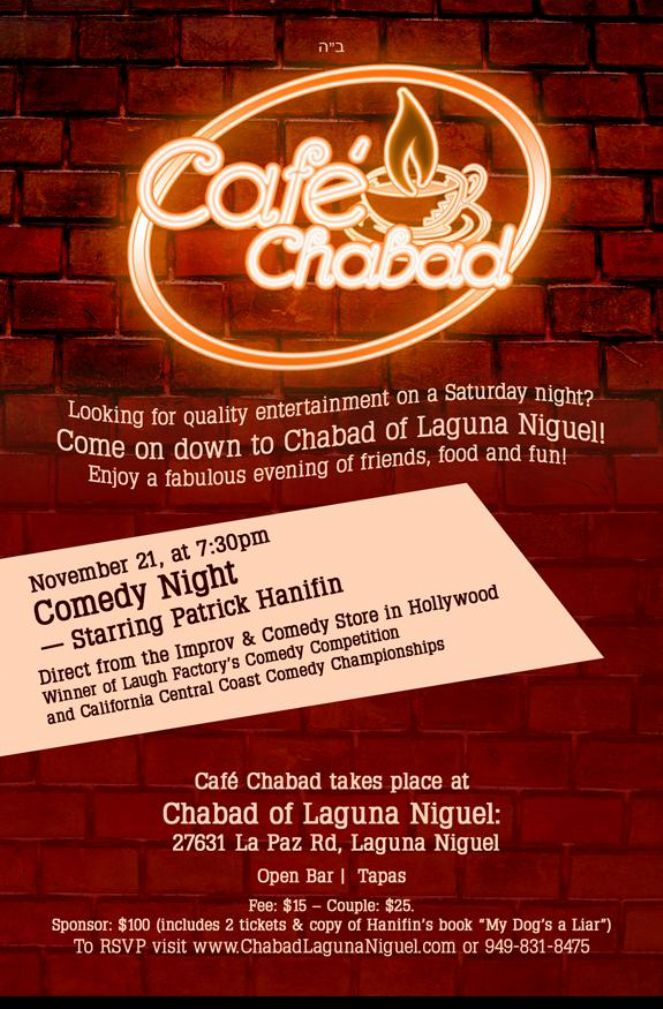 cafe chabad comedy night