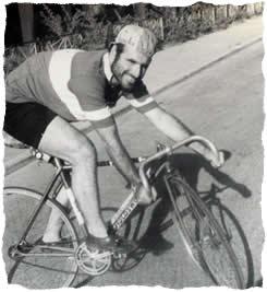 Sam on his bike.