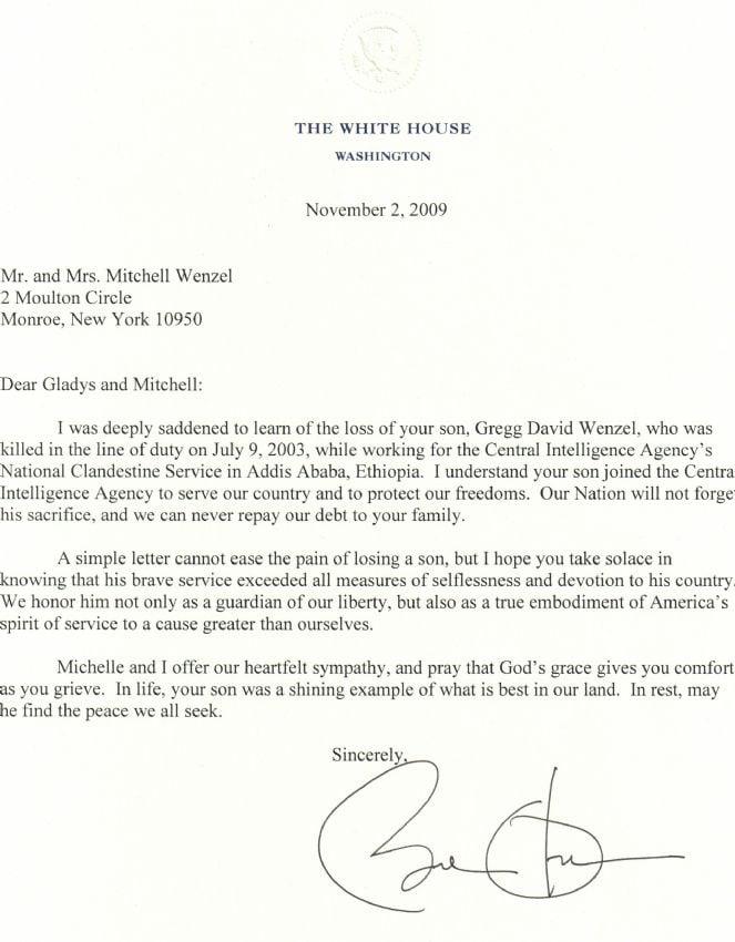 President Obama Letter to Wenzel.JPG