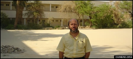 Edwin Shuker, an expatriate Iraqi, stands outside Baghdad's Frank Iny Jewish School, a remnant of a community that in the space of decades was reduced from 200,000 people to a handful of souls.