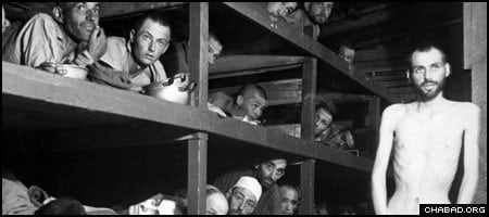 Having lost his family in the Holocaust and spending most of his time in captivity at the Auschwitz concentration camp, Elie Wiesel, bottom, sixth from left, was liberated from the Buchenwald concentration camp in 1945.