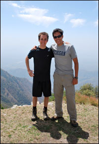 Ethan Kay, left, and Jay Lurie spent time together at the Mumbai Chabad House.