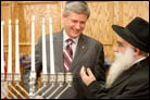 Canadian PM Hosts Menorah Lighting