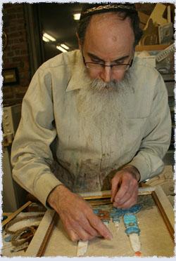 Muchnik in his studio