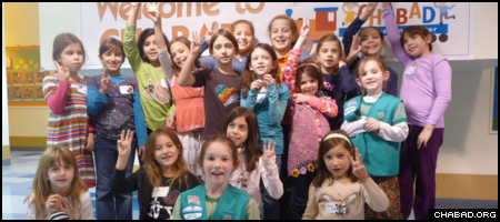 Members of Girl Scouts Troop 3131, the first Jewish troop in the national organization's almost 100-year history, hold their meetings at Chabad-Lubavitch of the West Side in New York City.