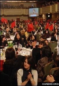 Thousands of women filled a ballroom at the New York City Hilton hotel for the banquet. (Photo: Odelia S.)