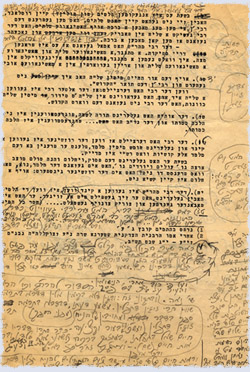 The Rebbe's edits on a draft of one of his talks from the early 1950s.