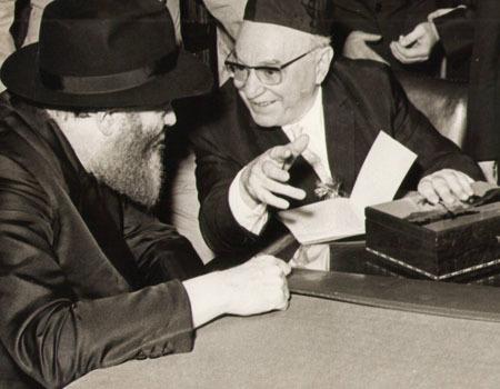 Shazar and the Rebbe converse
