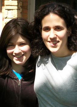 The author (right) with her friend, Gittel Kanter.