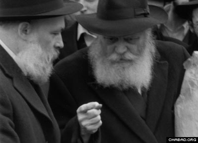 "The Rebbe, turning to Rabbi Yehuda Krinsky and asking, ""Where is the car that we used yesterday?"""