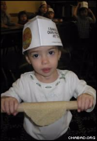 Preschoolers got to make matzah at a model bakery run by the Chabad Jewish Enrichment Center of Chestnut Ridge, N.Y.