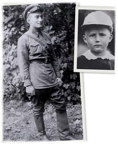Goldman, left, was a Soviet soldier when he first met Foxman, above, as a young boy. The chance encounter has become legend in their respective families.