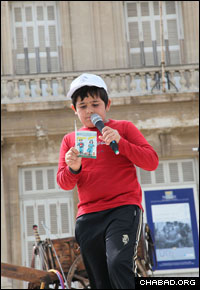 Chabad Houses in Marseille, France, put on a children's rally for last year's Lag B'Omer festivities.