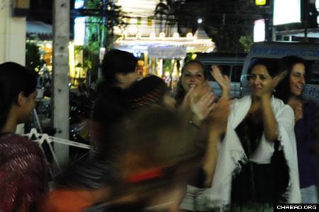 In Phuket, Thailand, celebrants danced the night away.