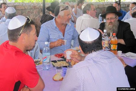 Celebrants included groups of visitors from Israel and Turkey.