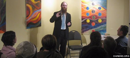 Rabbi Yisroel Bernath leads a popular class on Jewish mysticism at Chabad of NDG in Montreal, Canada's West End.