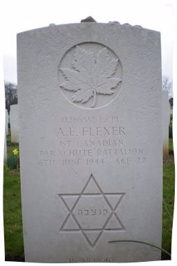 Uncle Alec's Gravestone in Normandie