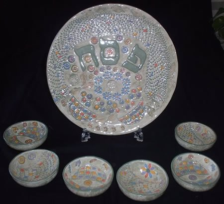 A Passover Seder Plate Dorothy crafted