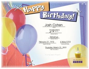Jewish birthday club chabad of livingston jewish birthday club yadclub Choice Image