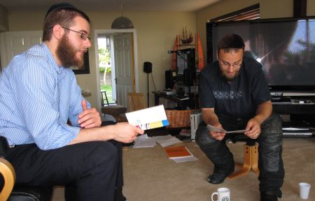 Reading the Shema together.