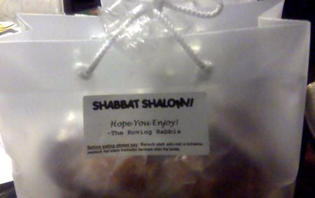 We gave these delicious challahs to our new friends in honor of Shabbat.