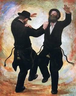 ריקוד חסידי. ציורו של זלמן קליינמן
