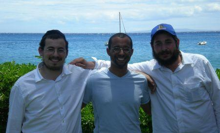With an Israeli friend in the city of Lahaina.