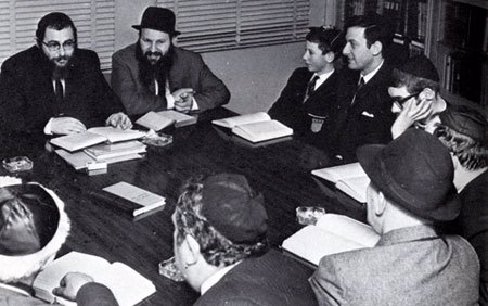 A study group at Lubavitch House in the early 1970s