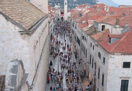 The main street of old Dubrovnik.