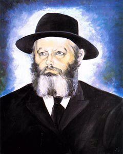 The Rebbe -- a painting by chassidic artist Hendel Liberman