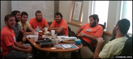 Organizers of Bais Chaya Mushka of Los Angeles' winning campaign strategize during the Kohl's Cares for Kids contest.