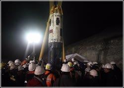 חילוץ הכורים. צילום: ממשלת צ'ילה