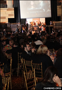 Hundreds of people packed New York City's Gotham Hall for the gala event. (Photo: Levi Stein)