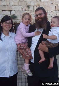 Rabbi Shlomo and Devorah Elkan and their children are still getting used to their new surroundings in Oberlin, Ohio.