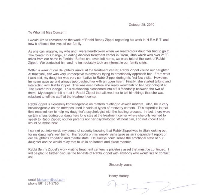 thank you letter 2 chabad lubavitch of utah