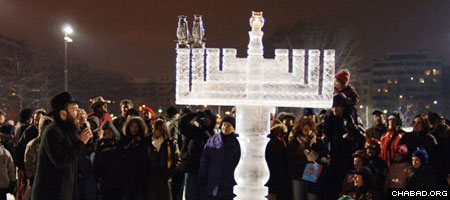 From ice menorahs in Europe to Chanukah parades in Florida, Chabad-Lubavitch centers are presiding over thousands of holiday events this year.