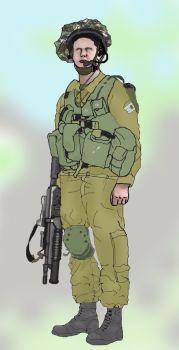"""איור של חייל בגולני. קרדיט: משתמש """"Jakednb"""" בויקיפדיה"""