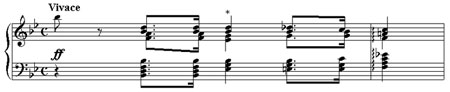 """From Bach's """"Well-Tempered Clavier"""", Vol. I (Preludio XXI)"""