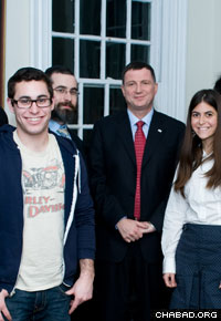 University of Pennsylvania sophomore Lauren Gibli, right, helped organize a large Shabbat dinner at her Ivy League school.