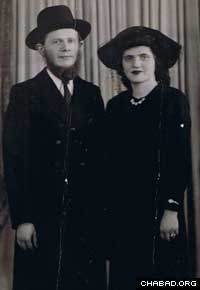 "Rabbi Menachem Zeev ""Wolf"" and Esther Greenglass"