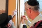 Chief of Staff's First Official Action: A New Mezuzah